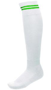 Chaussettes 2 Bandes Blanc_Vert