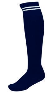 Chaussettes 2 Bandes Marine_Blanc