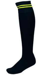 Chaussettes 2 Bandes Noir_Jaune