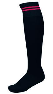 Chaussettes 2 Bandes Noir_Rouge