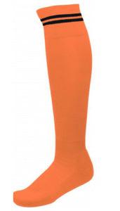 Chaussettes 2 Bandes Orange_Noir