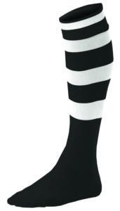 Chaussettes Rayées Noir_Blanc