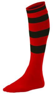 Chaussettes Rayées Rouge_Noir