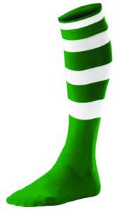 Chaussettes Rayées Vert_Blanc