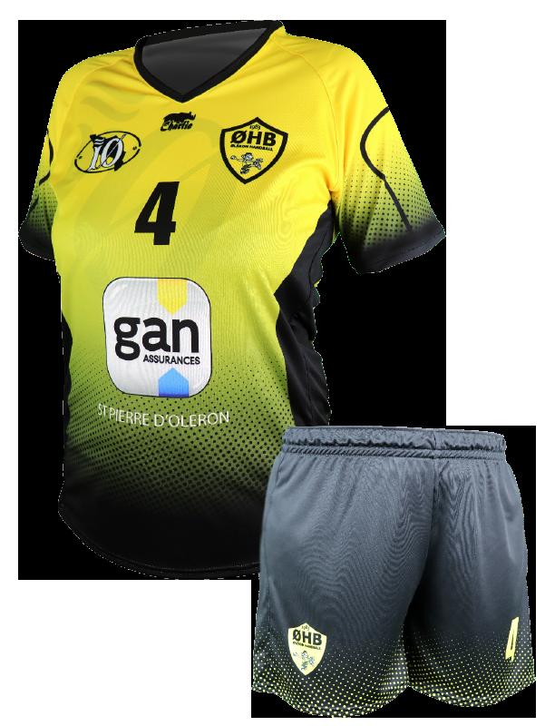 diapo handball tenue femme ohb