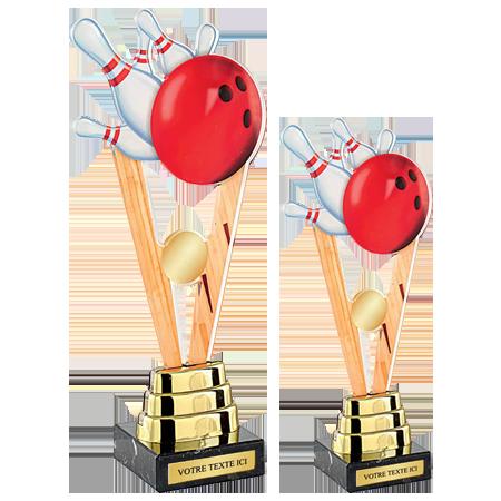 Trophées Acrylique Bowling