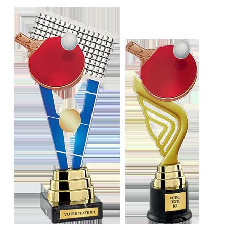 Trophées Acrylique Tennis de Table