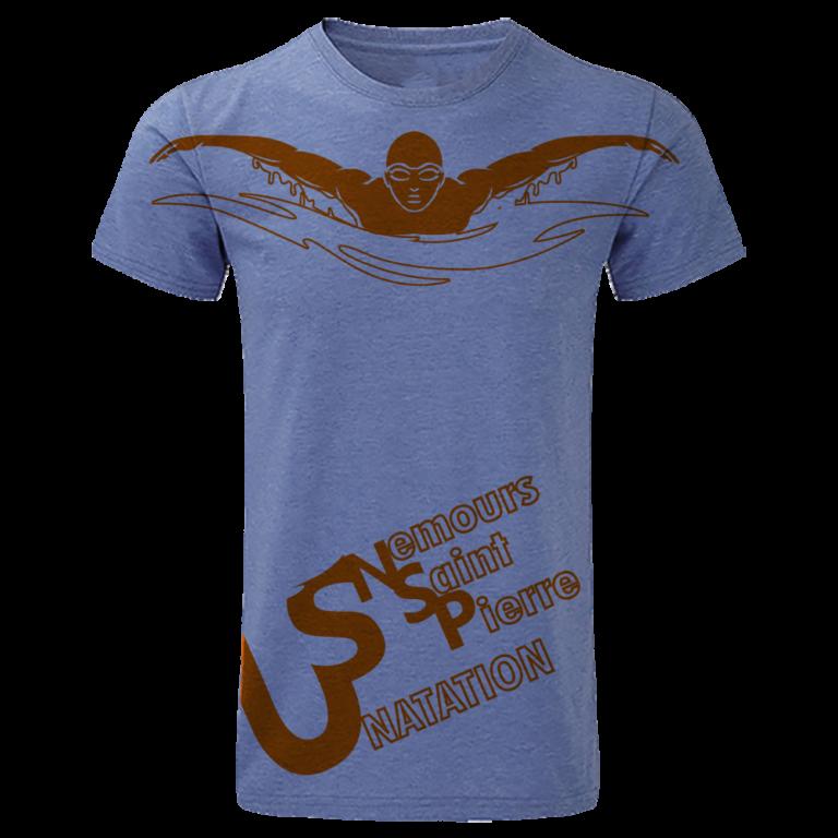 T-shirt-Sublimé-Nautique-Bleu