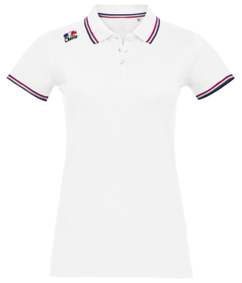 Polo-Femme-Frenchie-Charlie-Couleurs-Blanc